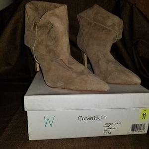 Suede Calvin Klein Booties